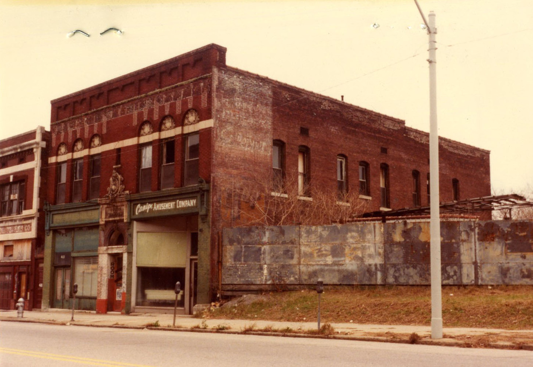 Building in demise during the 1970s and 80s.