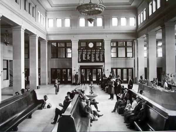 Inside Central Station, circa 1915, Historic-Memphis.com