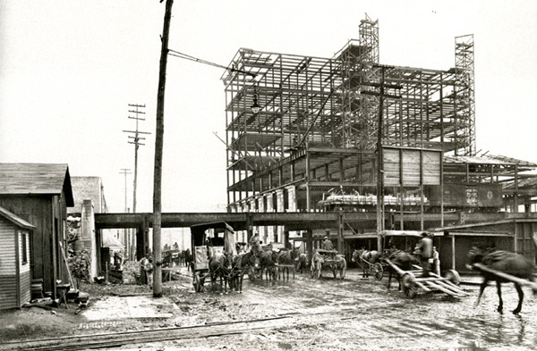 Construction of Central Station, Historic-Memphis.com