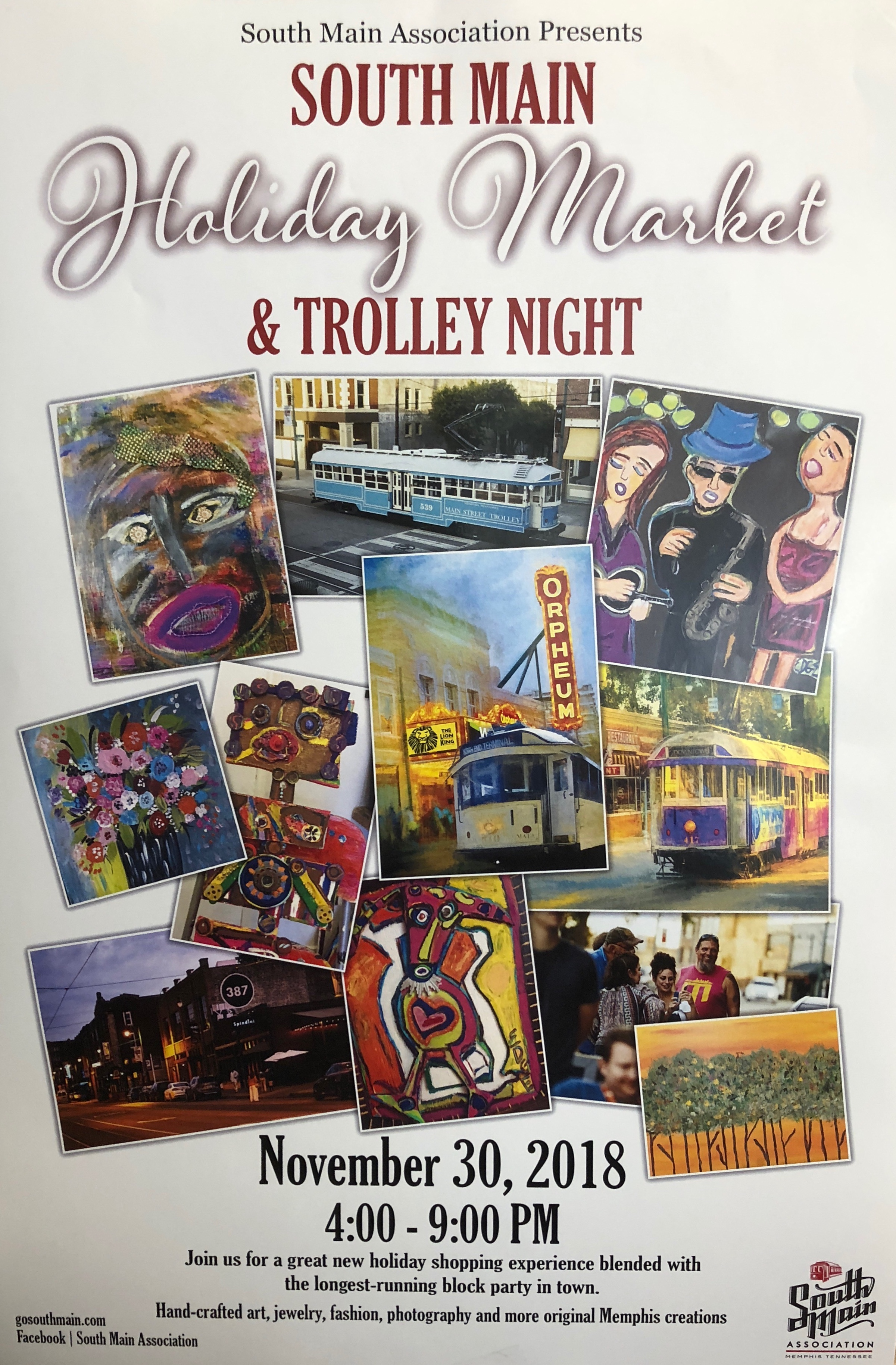 South Main Holiday Market & Trolley Night Official Poster -