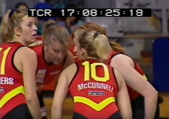 Chambers, pictured here with the Melbourne Tigers, played 261 WNBL games before moving into coaching.