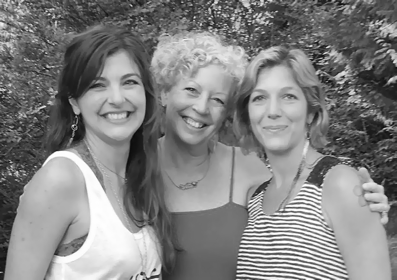 Kelly, Pamela and robin at the Intuit & Inspire Retreat.  Washington State, 2016