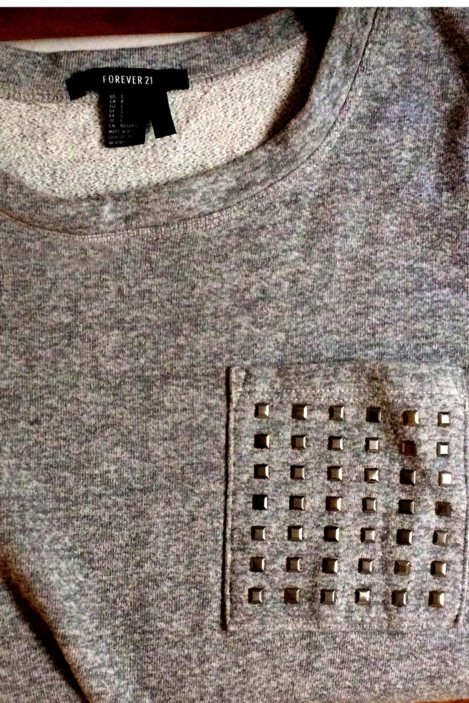 Forever21 studded pocket shirt