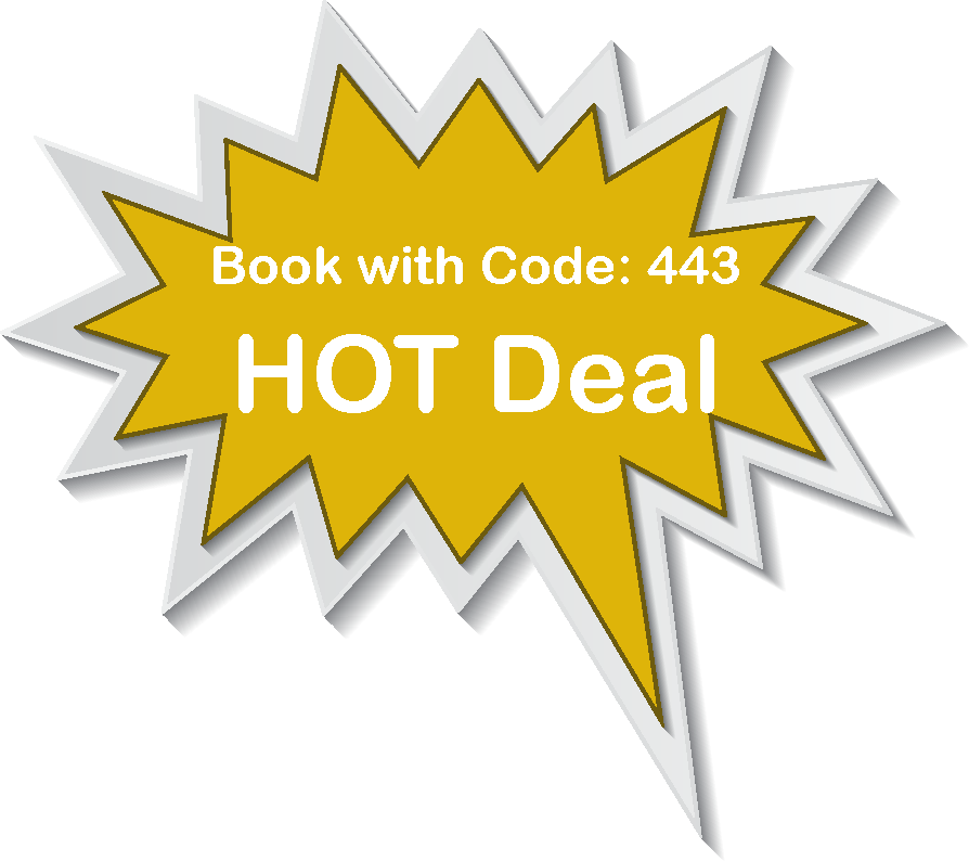 Book with Code 443 on https://book.bookingcenter.com/01/?site=HOLLAND
