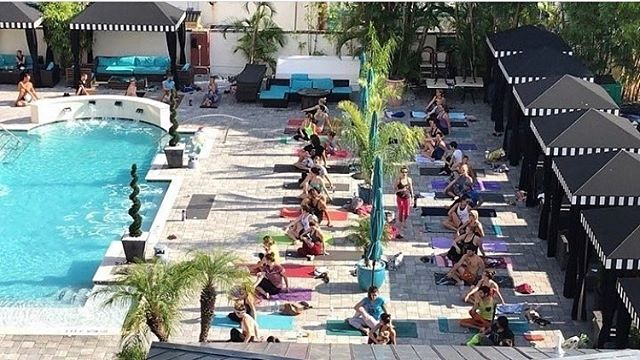 #repost @thebodyelectricyoga ・・・ 🕶️TGIF! One more sleep till we kick off the weekend at our favorite pool in the Burg! The @hollanderhotel is a great local spot that we are grateful to have such a lovely relationship with. They host pool parties every Sunday during season.⠀ .⠀ .⠀ .⠀ *Yoga Poolside* is guided by @namasgra this Saturday. Pre-register to save $5. Registration and info in bio link. #keepyogaweird