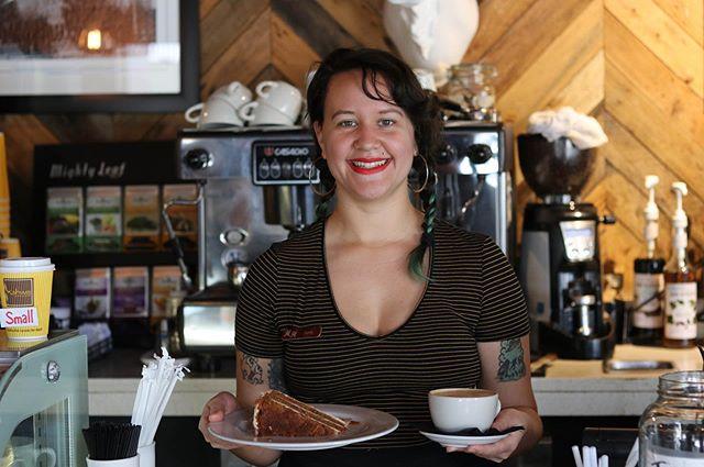 Mmm carrot cake! 😋🥕🍰#hollanderhotel #bestbarista #delicious #pastries #coffee #cake #kahwacoffee #dessert #stpete