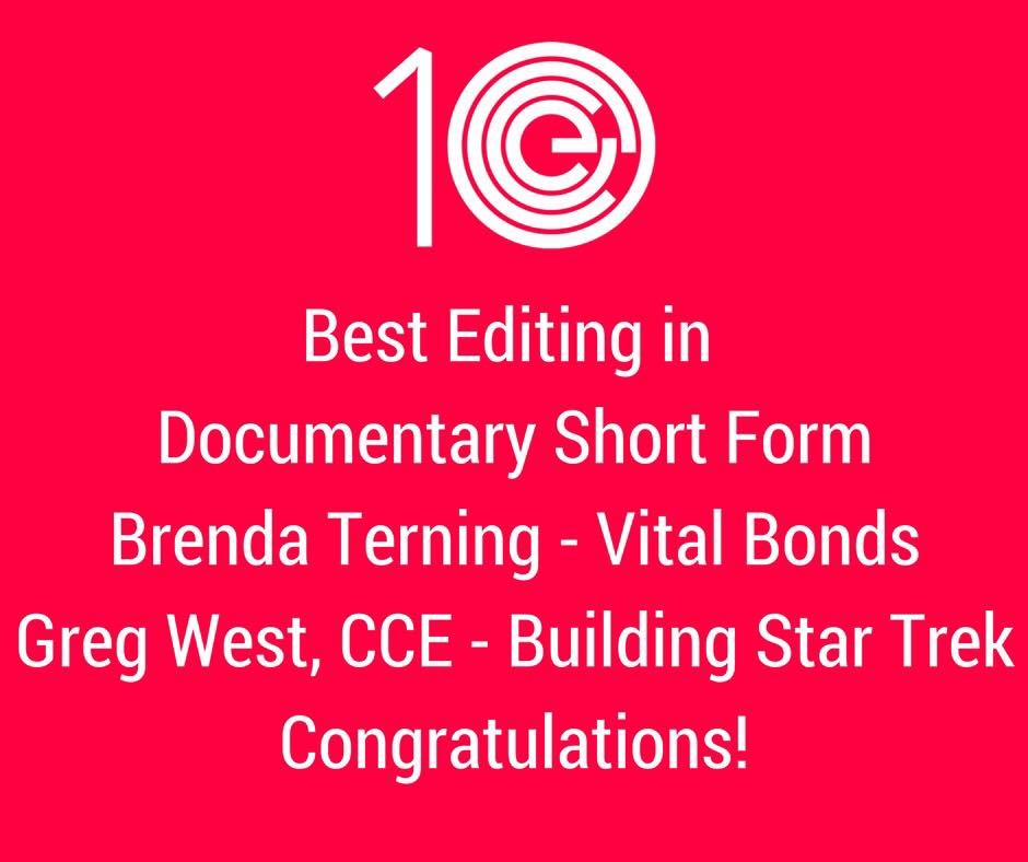 Best Editing in Documentary- Short Form