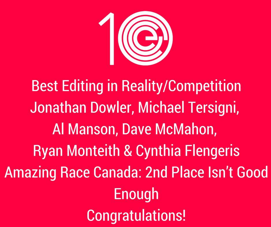 Best Editing in Reality/Competition