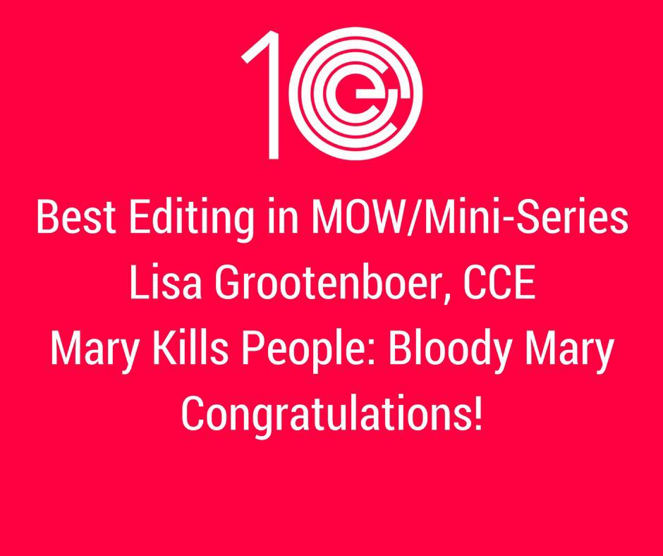 Best Editing in MOW/Mini-Series