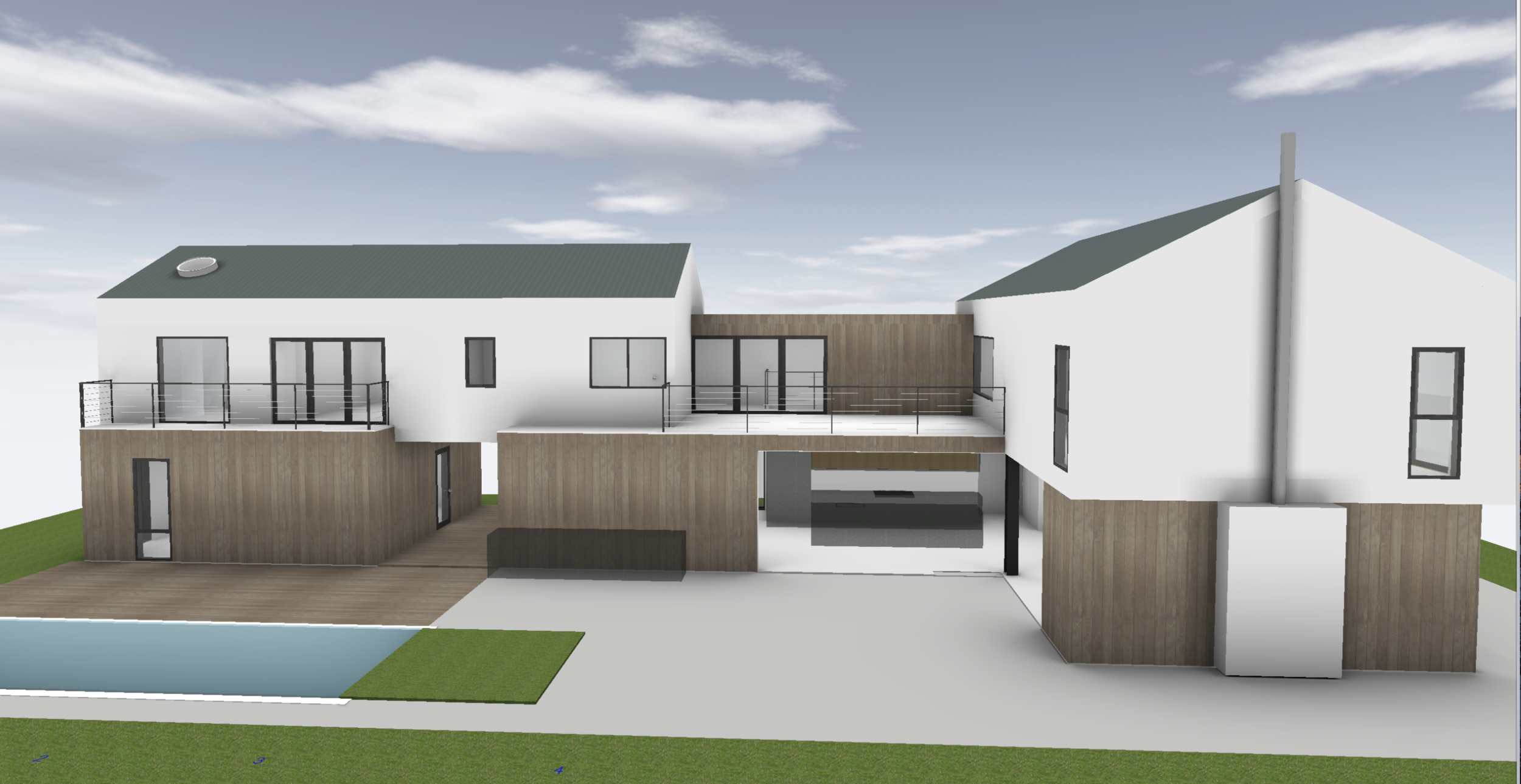 Rendering I: Modern Farmhouse