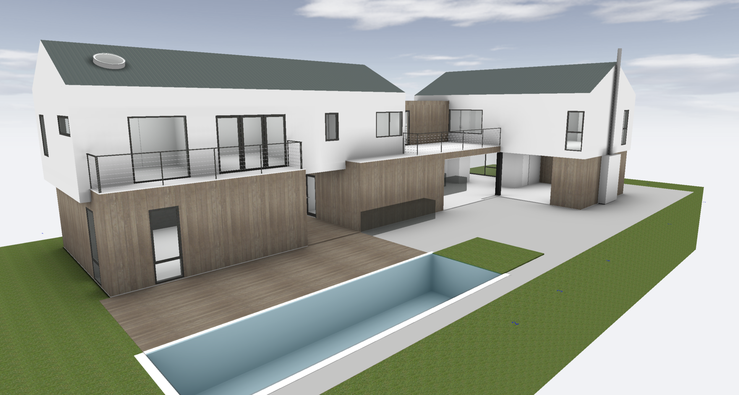 Rendering II: Modern Farmhouse