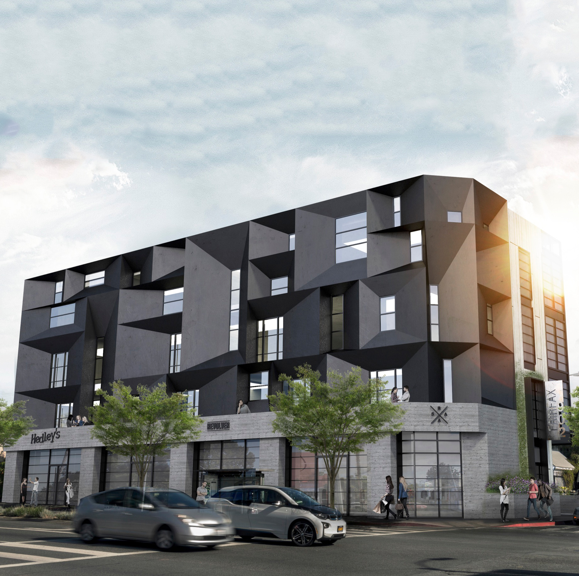 - Final Facade based on neighborhood feedback  - Neighborhood serving commercial space on ground floor (small cafes & retail)