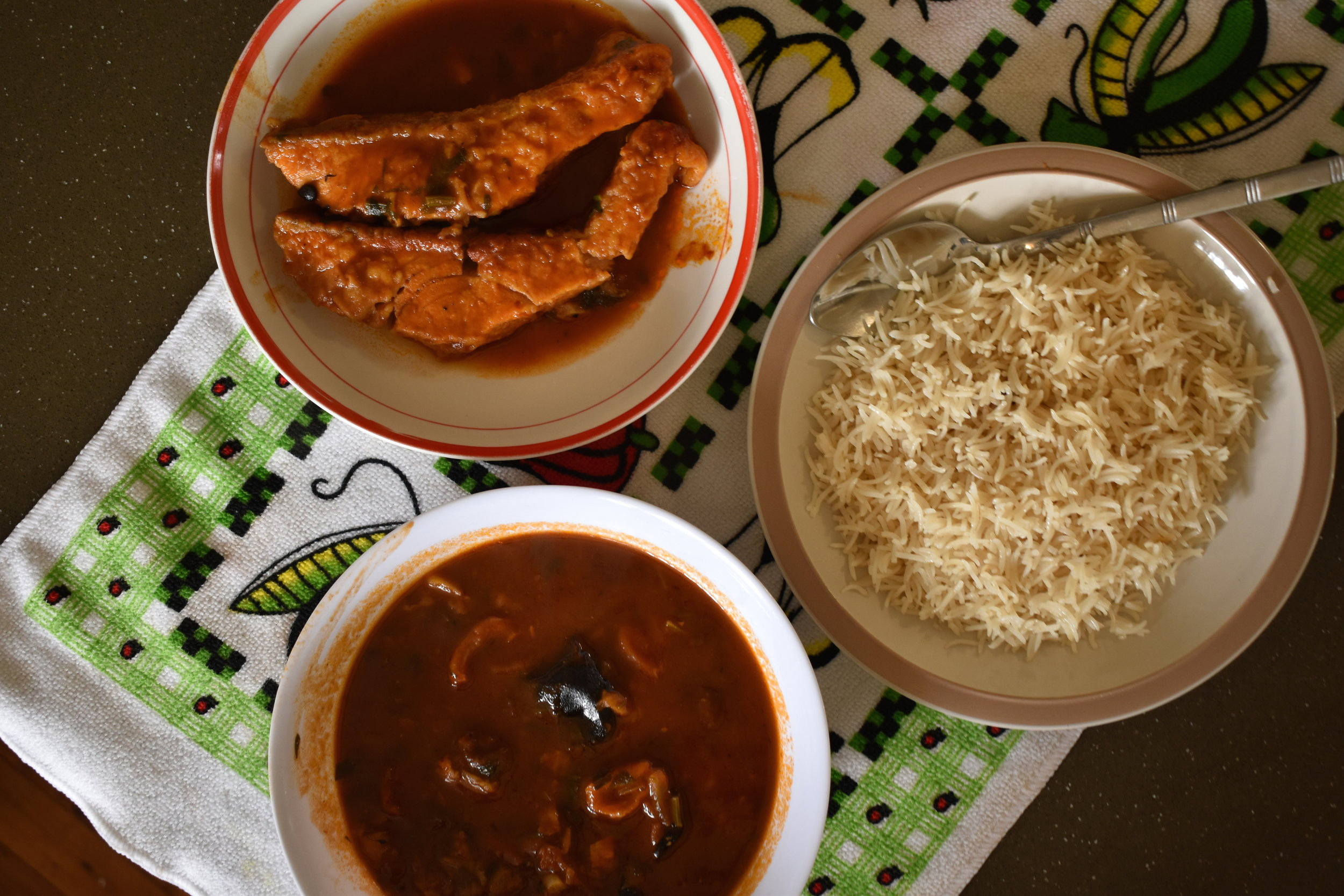 Marak Samak, pictured here served with rice