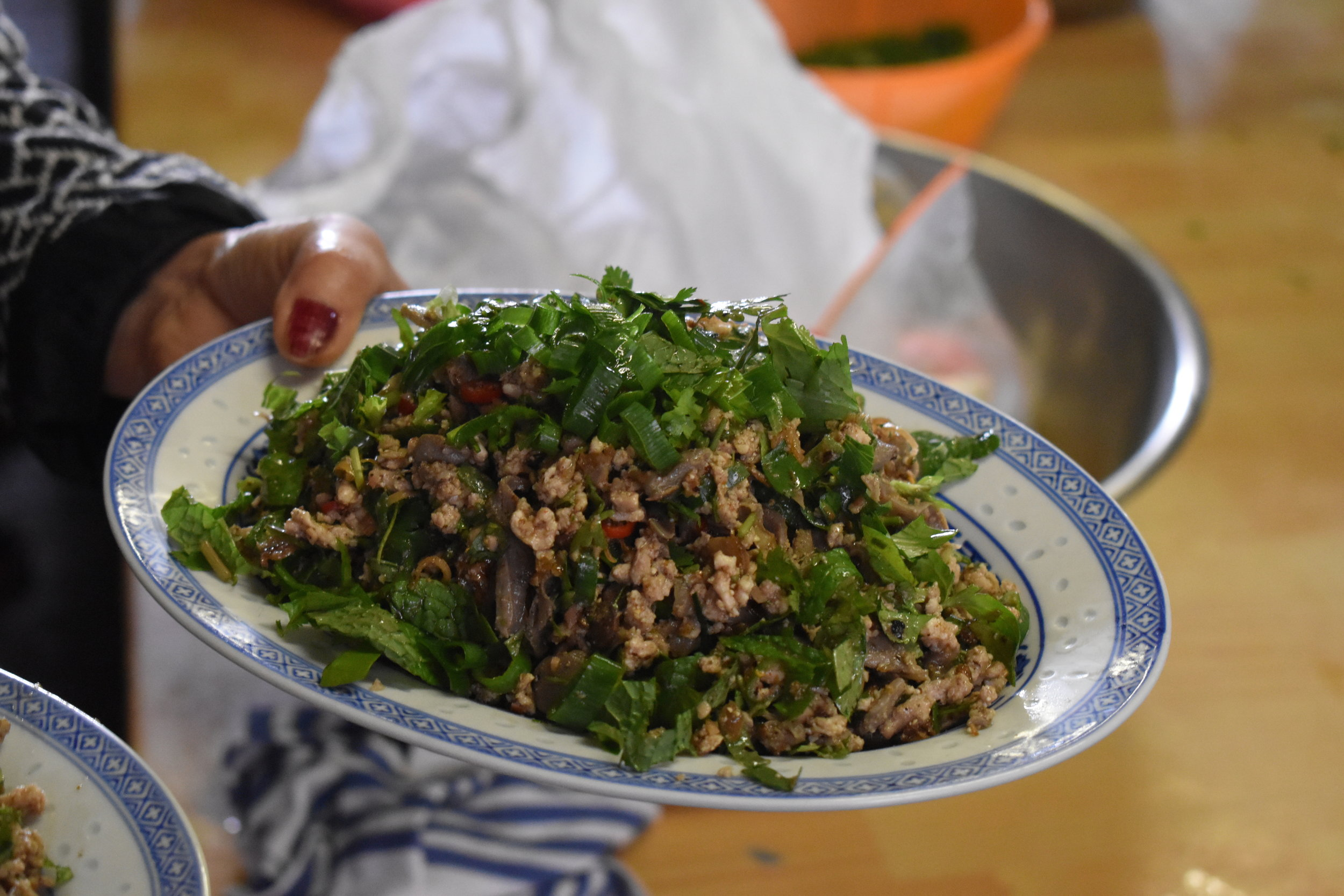 Larb Kai ready to eat