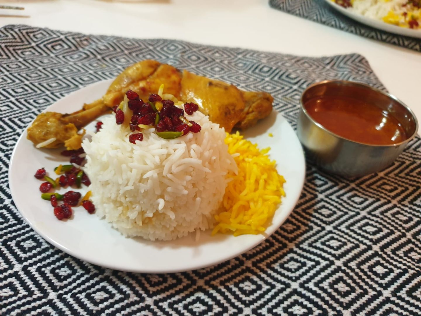 Barberry rice with saffron chicken   (Iranian).JPG