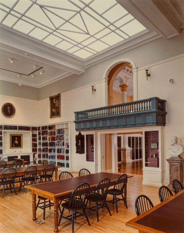Phillips Library Reading Room in Salem, 2008, before being shuttered in 2011 with promises of a 2013 reopening