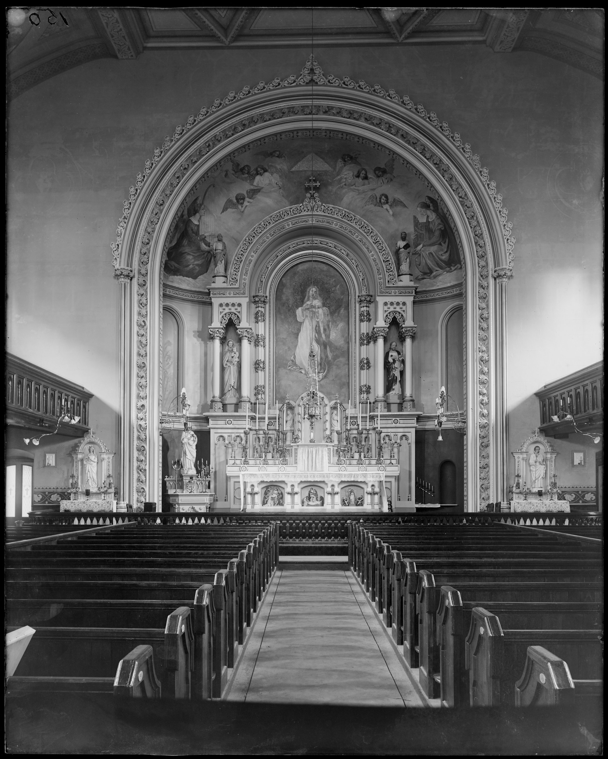 """Interior detail, altar, Church of the Immaculate Conception, (1856)"""