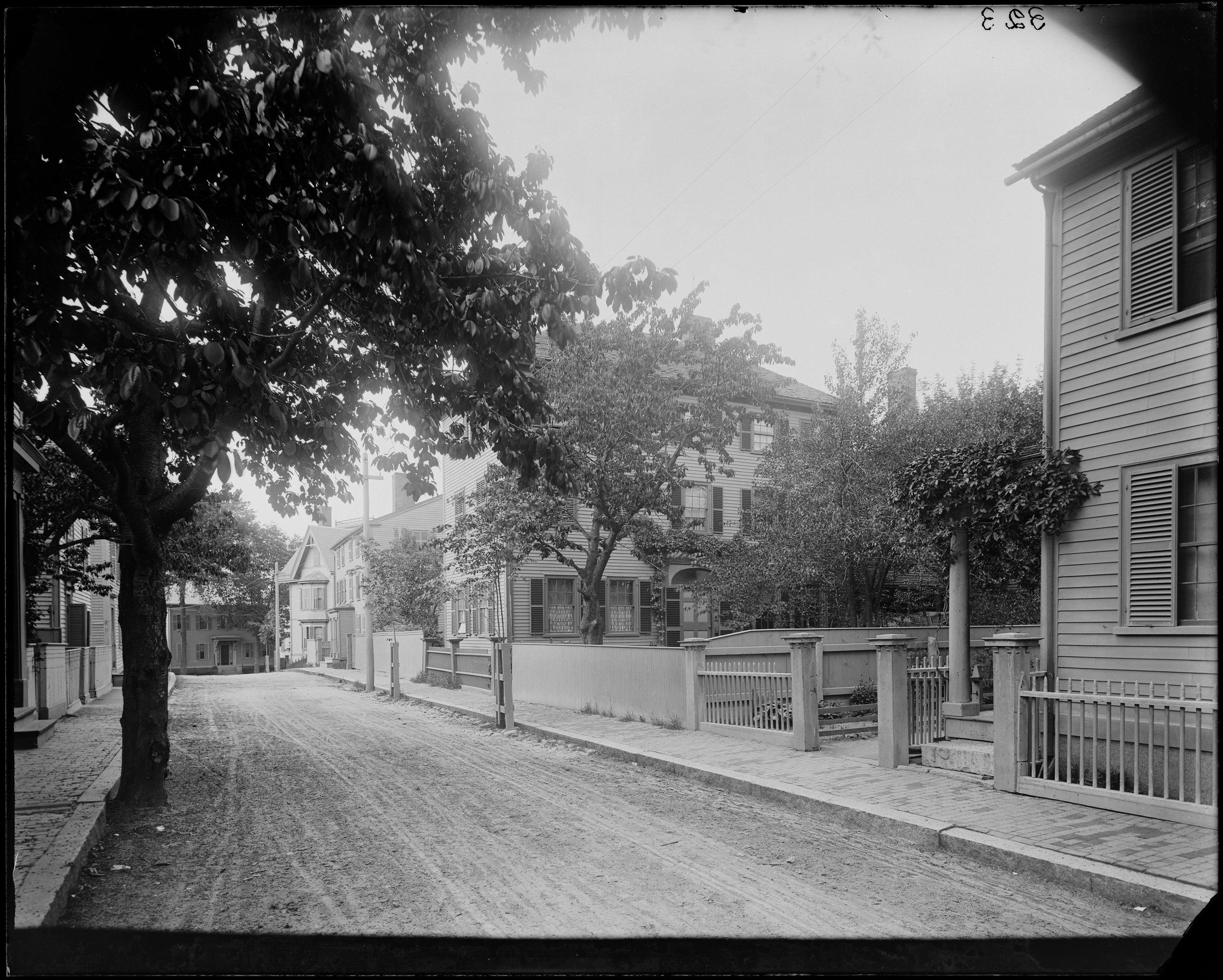 """Salem, 14 Mall Street, Hawthorne house where ""Scarlet Letter"" was written"""