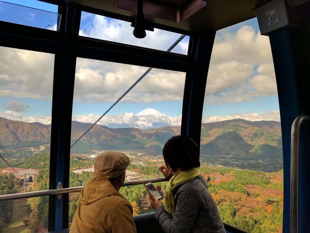 Looking at Mt. Fuji