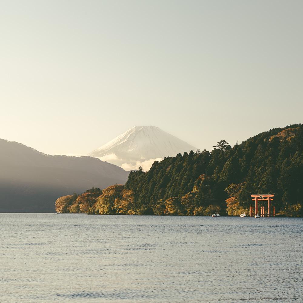 Lake Ashi Sunset