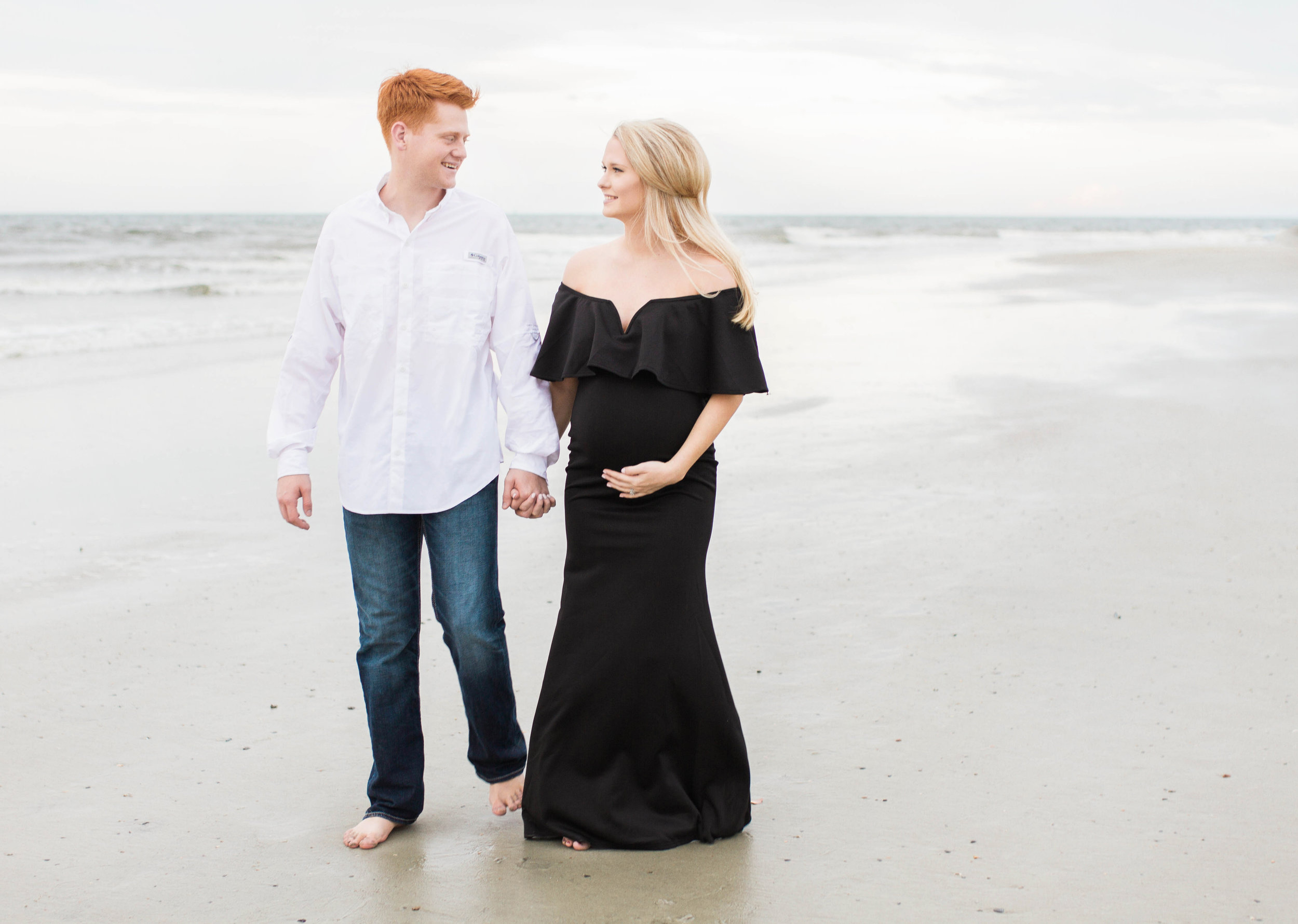 maternity tybee island beach photography