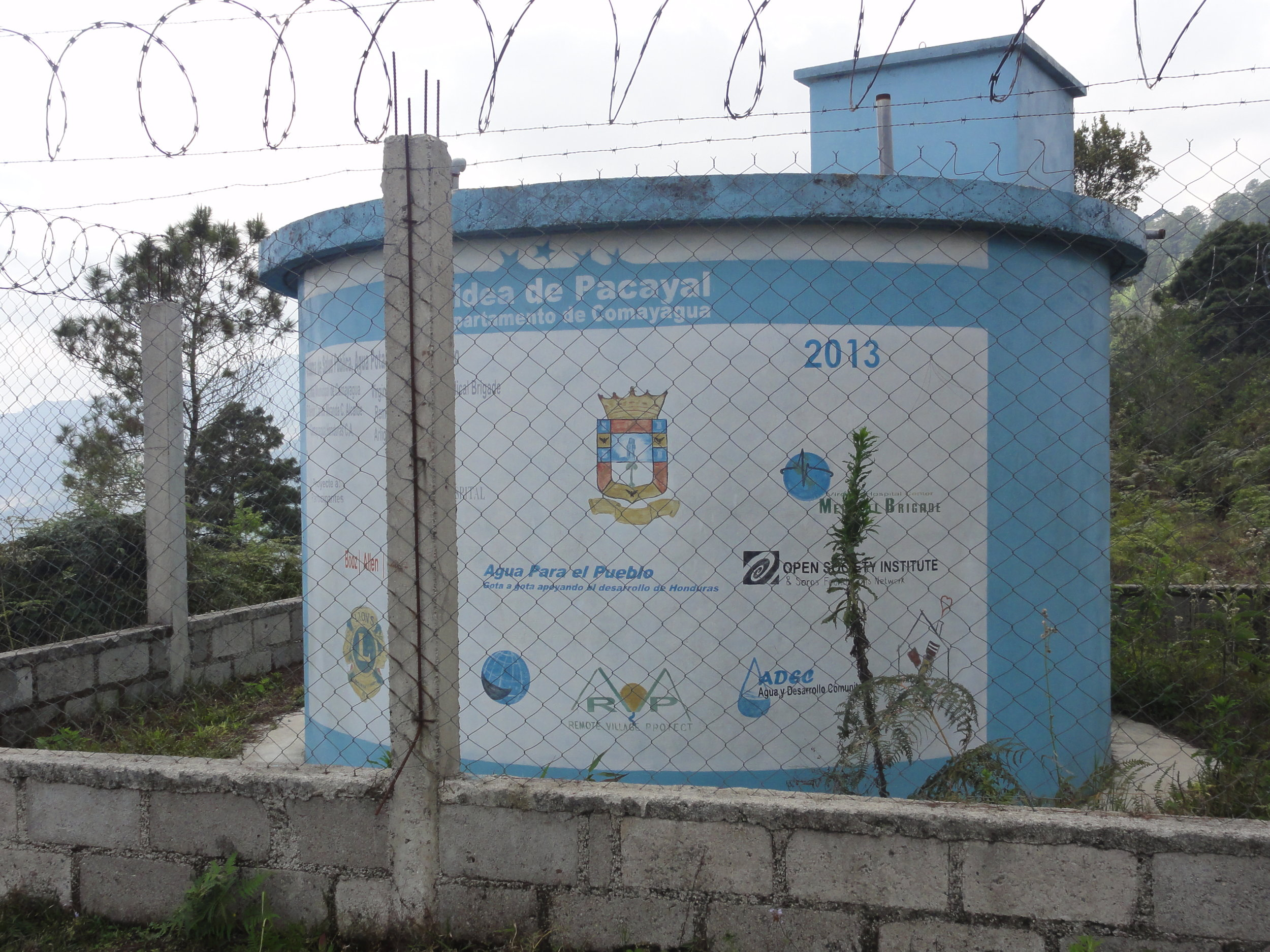 One of the Brgiade's water tanks