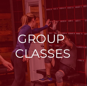 Join our group classes and connect to an encouraging collection of misfits!