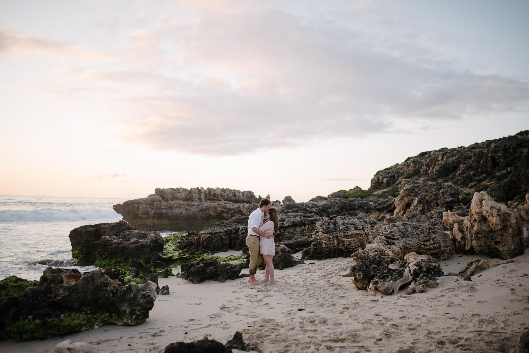 23-trigg beach sunset engagement photography.jpg