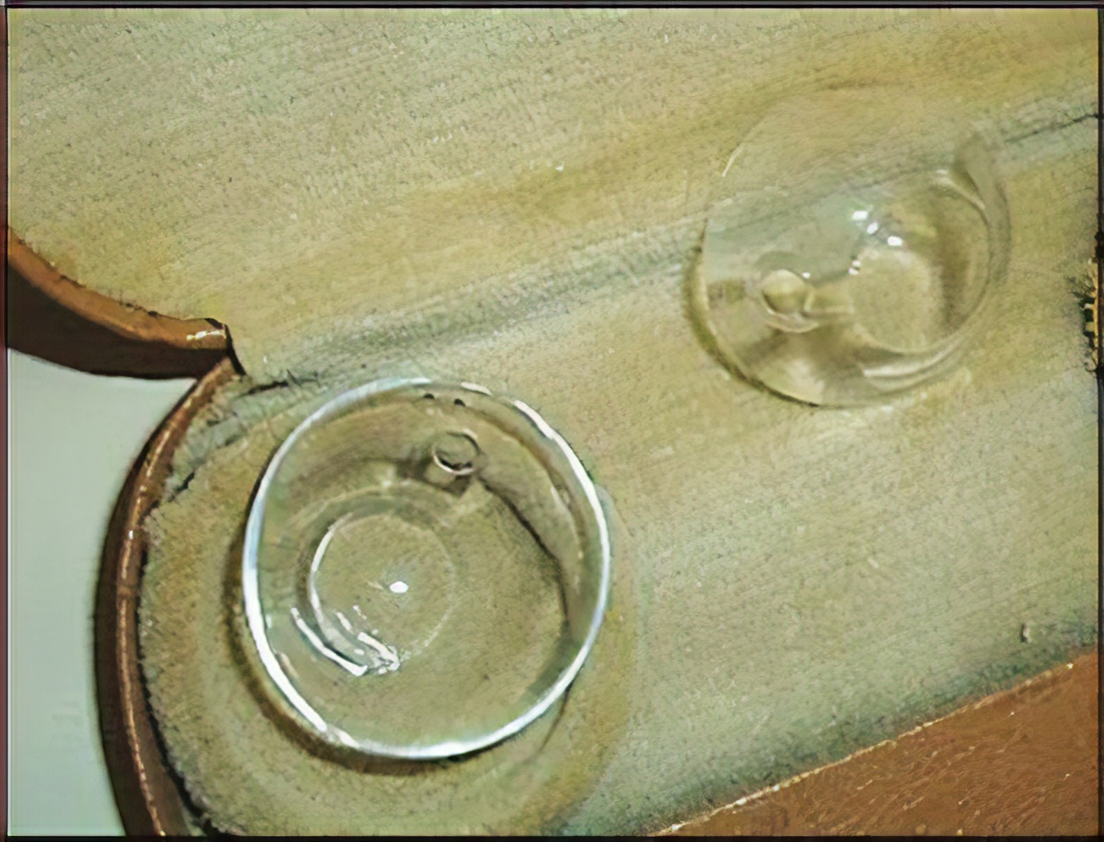 Scleral contact lenses circa 1950
