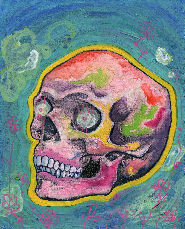 floating skull
