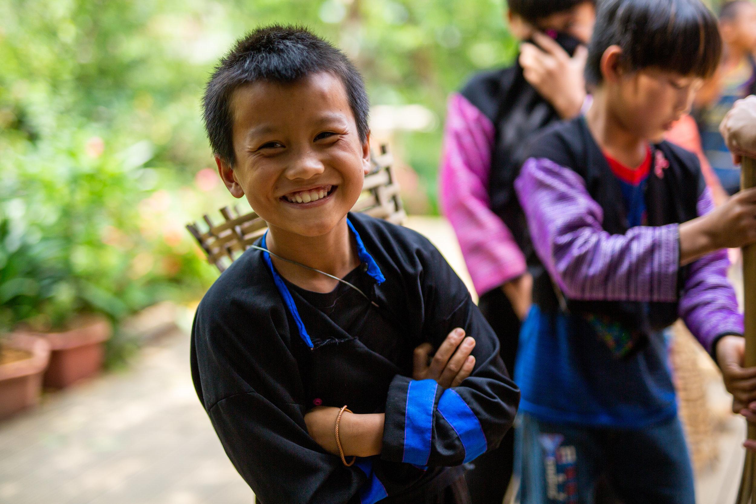 Smiling kid hua tat village