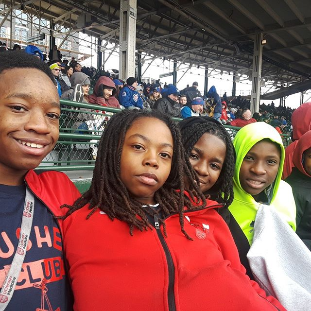 It was chilly at Cubs game but we had an awesome time! Crushers love Cubs