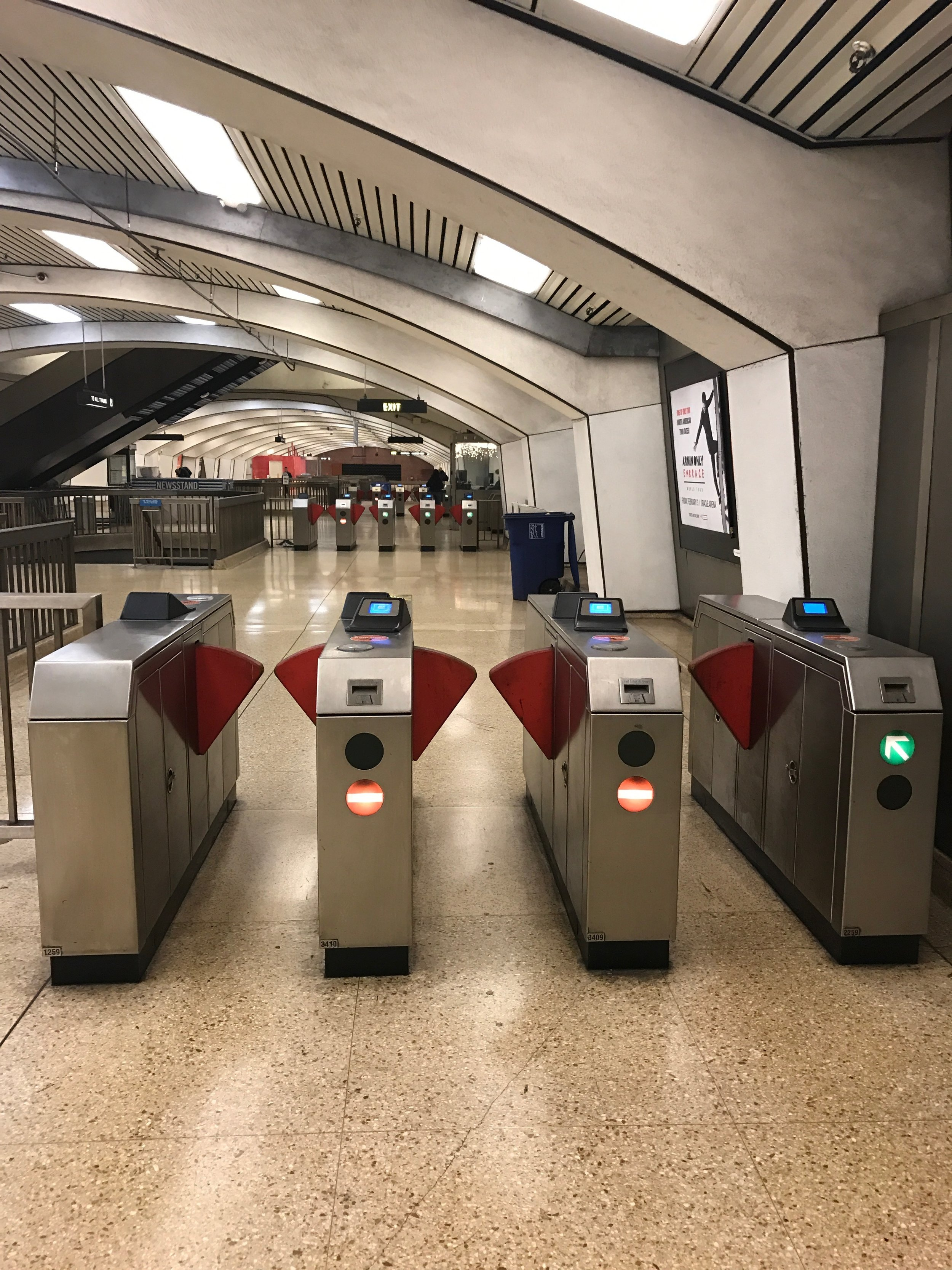 Turnstiles - Most of them Out of Service