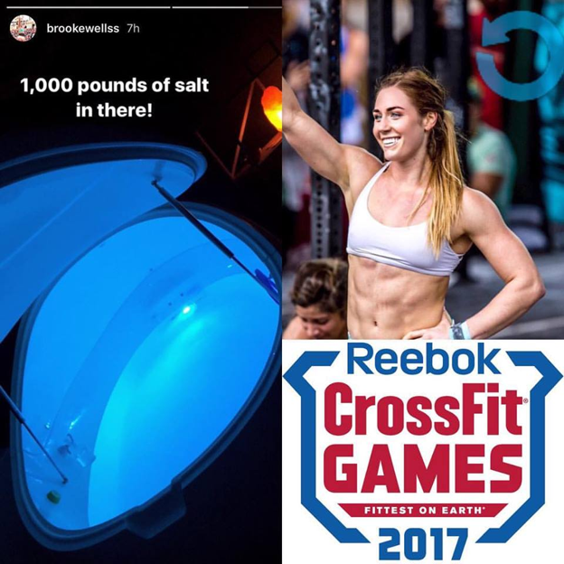 Brooke Wells... - ...world's 6th strongest cross fit female regularly floats in preparation for competitive competition.