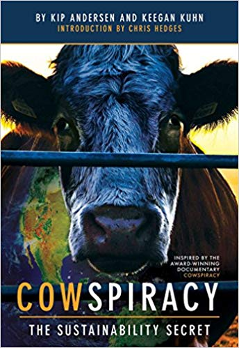 (Cowspiracy)  The award-winning documentary Cowspiracy presents alarming truths about the effects of animal agriculture on the planet. One of the leading causes of deforestation, greenhouse gas production, water use, species extinction, ocean dead-zones, and a host of other ills, animal agriculture is a major threat to the future of all species, and one of the environmental industry's best-kept secrets.