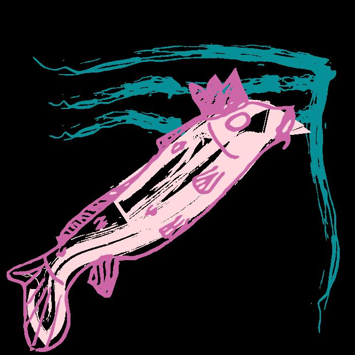 God Of Fish Print