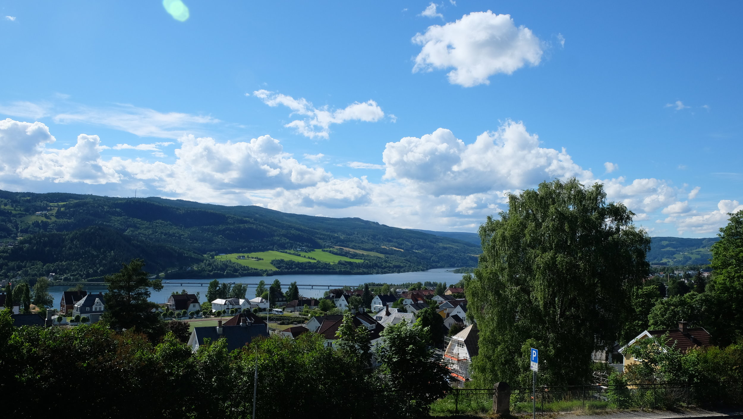 A view of Lillehammer's scenery