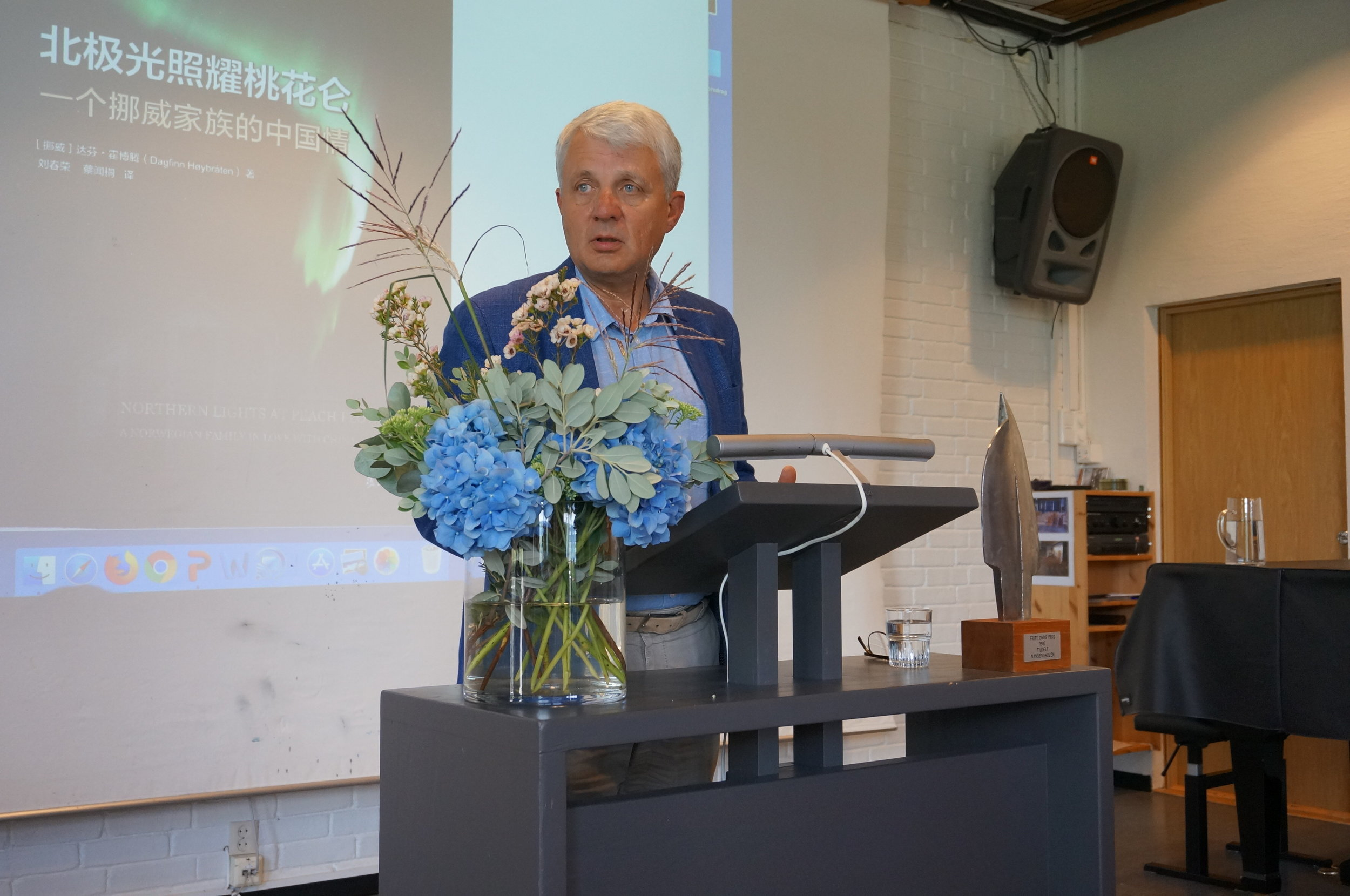 Dagfinn Høybråten, Secretary General of the Norwegian Church Aid, during his lecture on how his life was shaped by the Nordic model