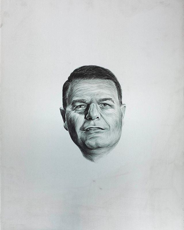 'Anthony' finalist in the Brisbane Portrait Prize showing now at the Powerhouse