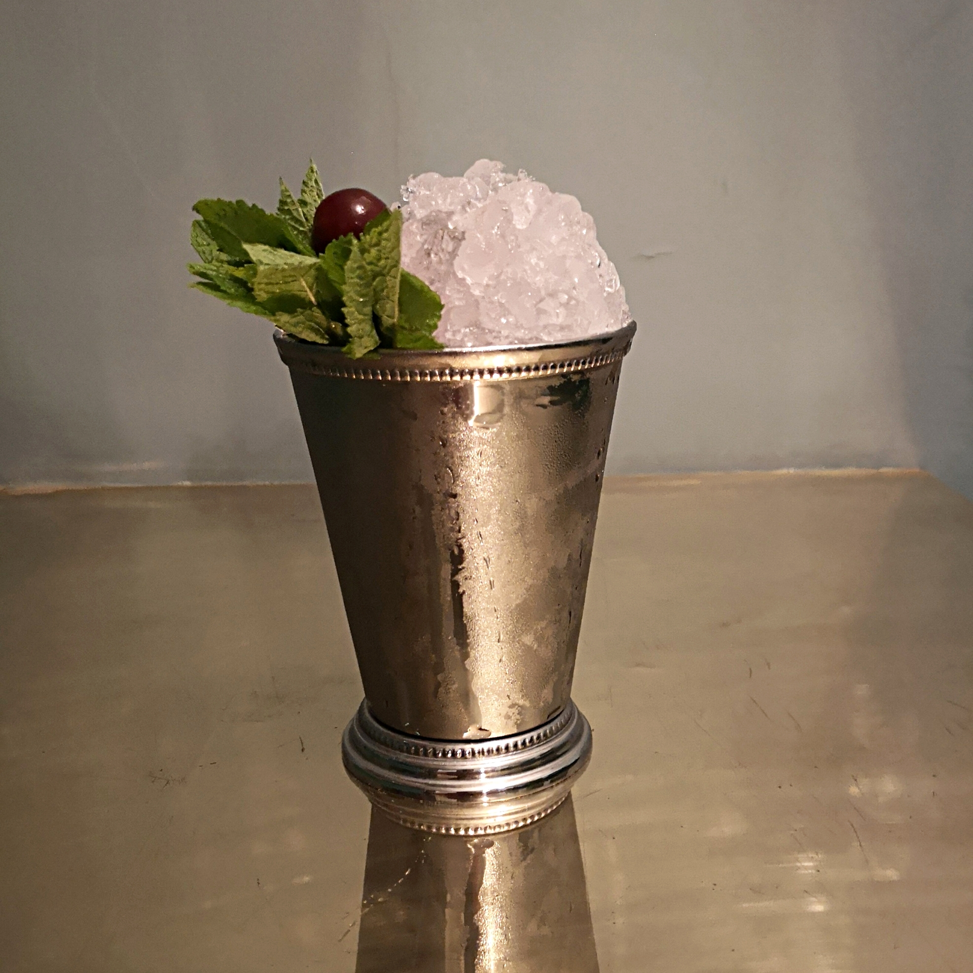 Hix Julep - Cherry, vanilla and whisky churned with crushed ice