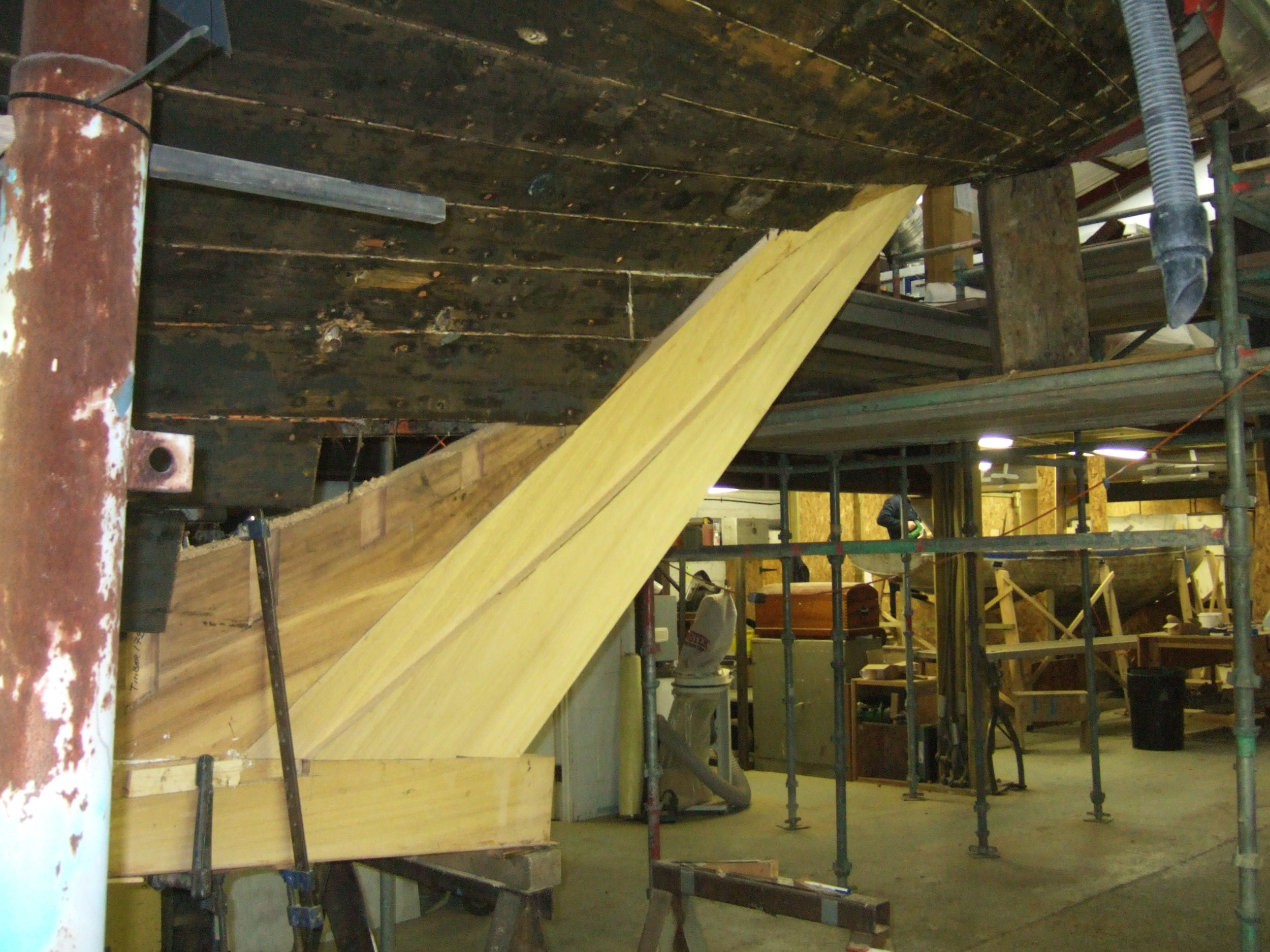 a new stern post for Kelpie at Fairlie Yachts