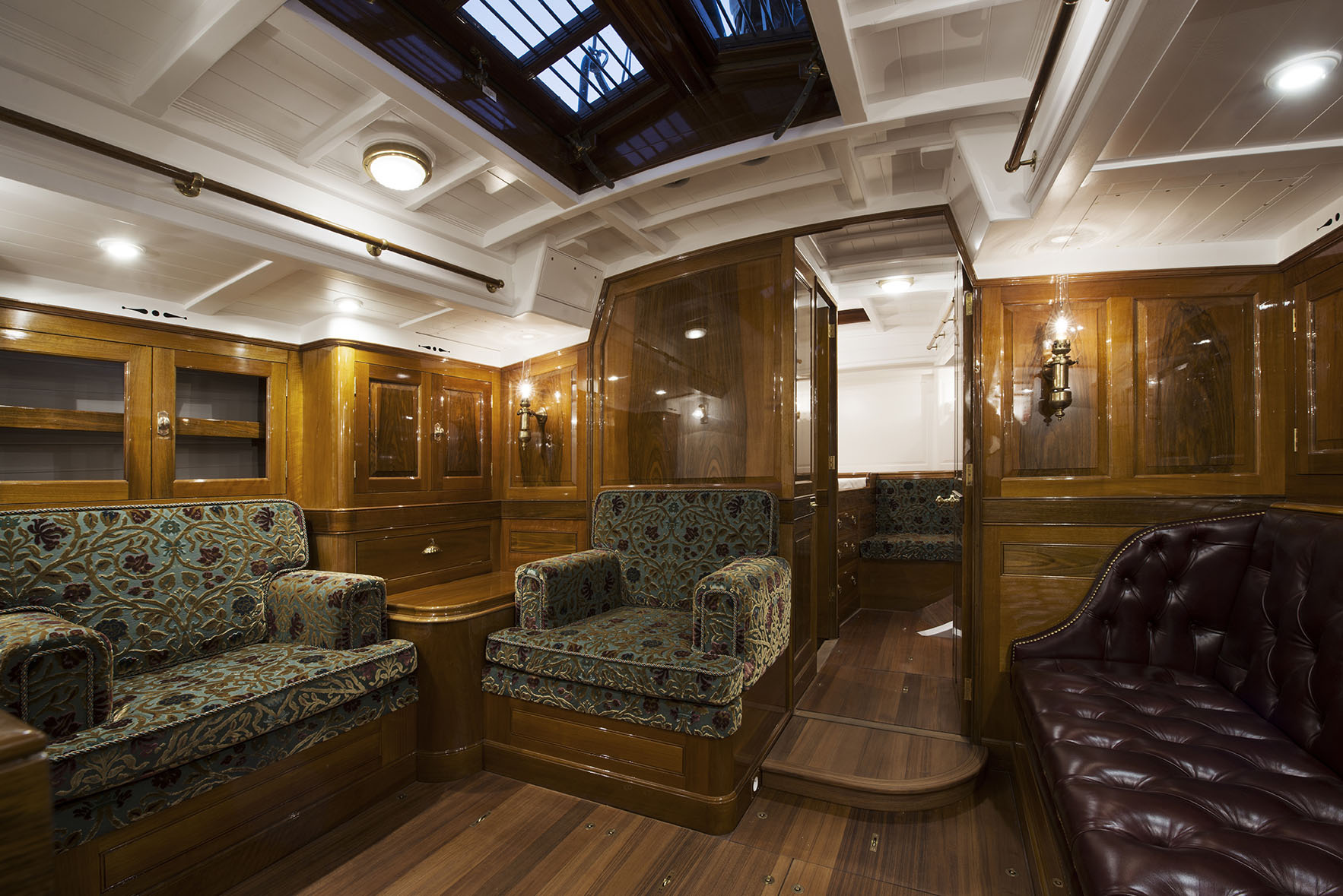 Fairlie 53 interior of modern cruising yahct