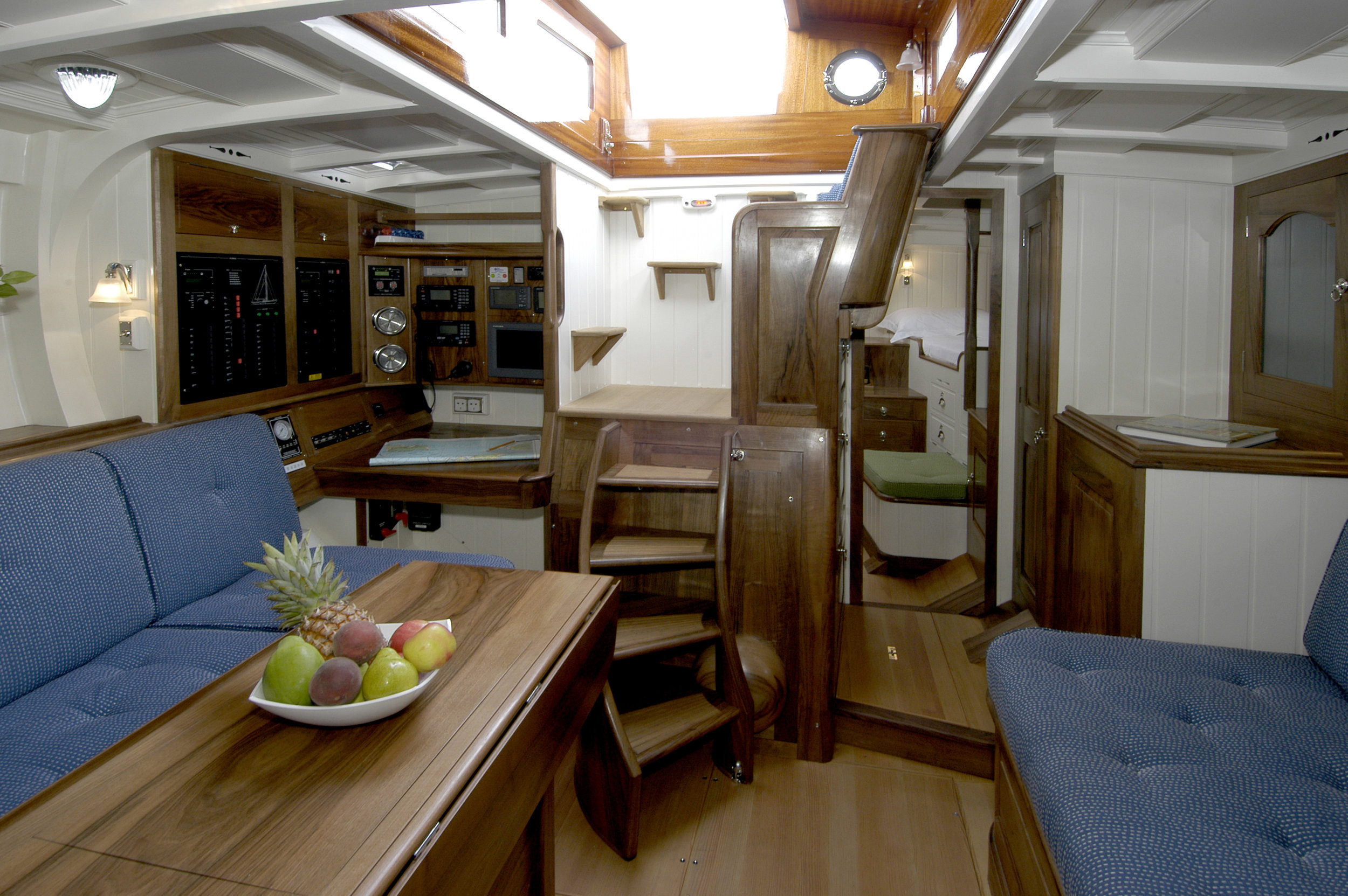 Fairlie 59 interior looking aft