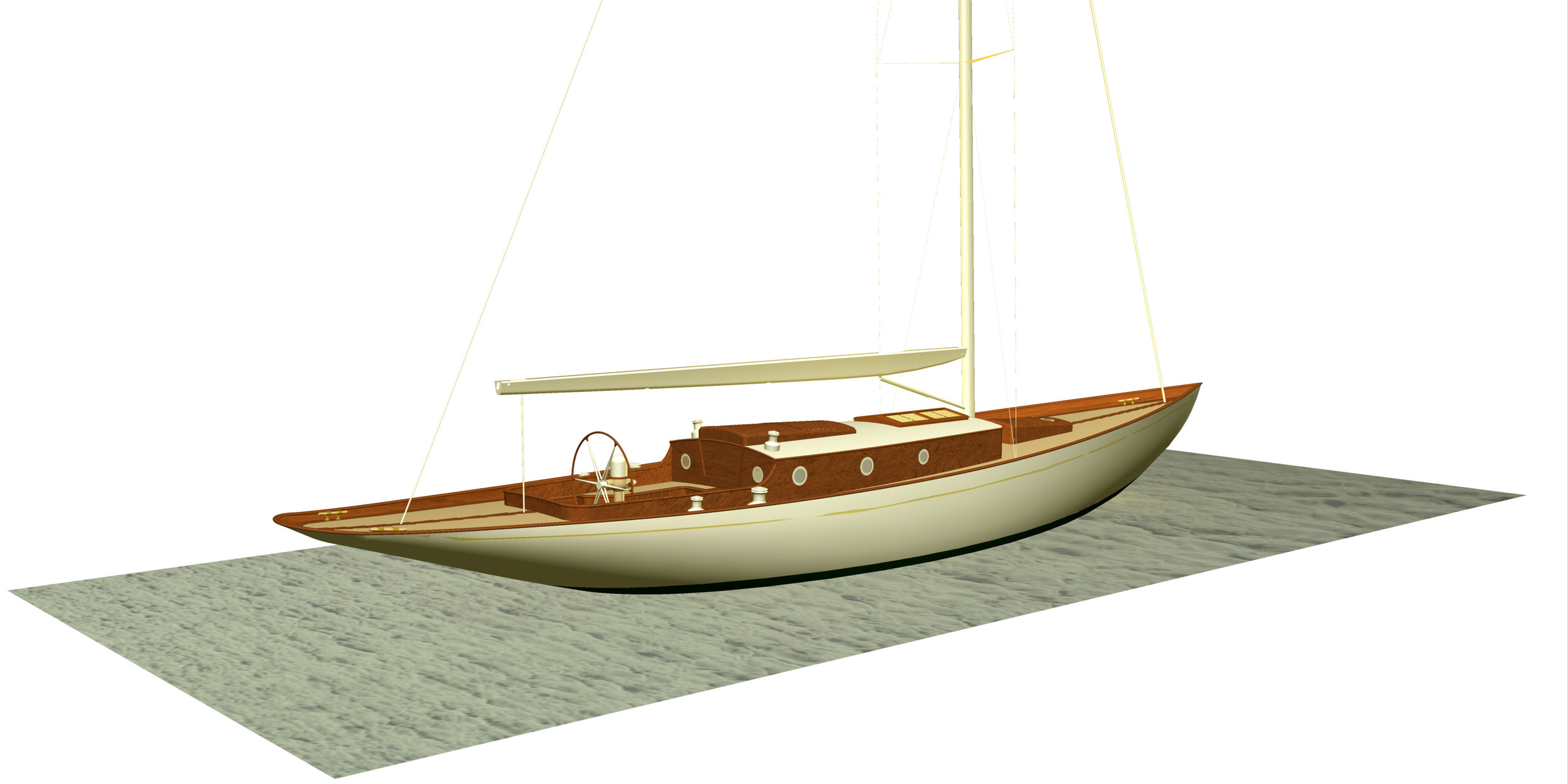 Fairlie 45 modern classic yacht