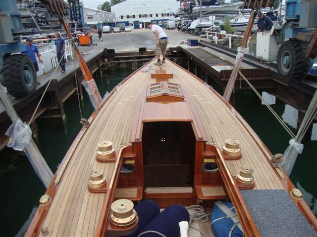 Falcon, a Fife 8 Metre from 1931 launch day