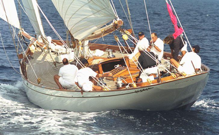The fife designed yacht Halloween participating in Panerai Regatta