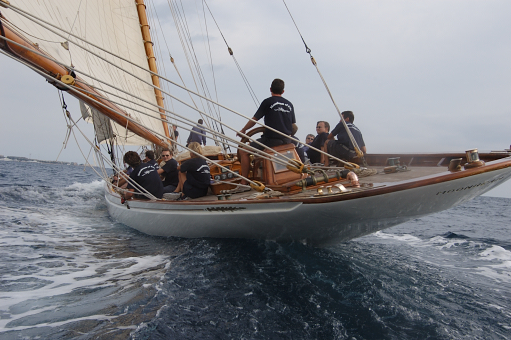 Moonbeam of Fife, designed by William Fife partially restored by Fairlie Yachts in 2007
