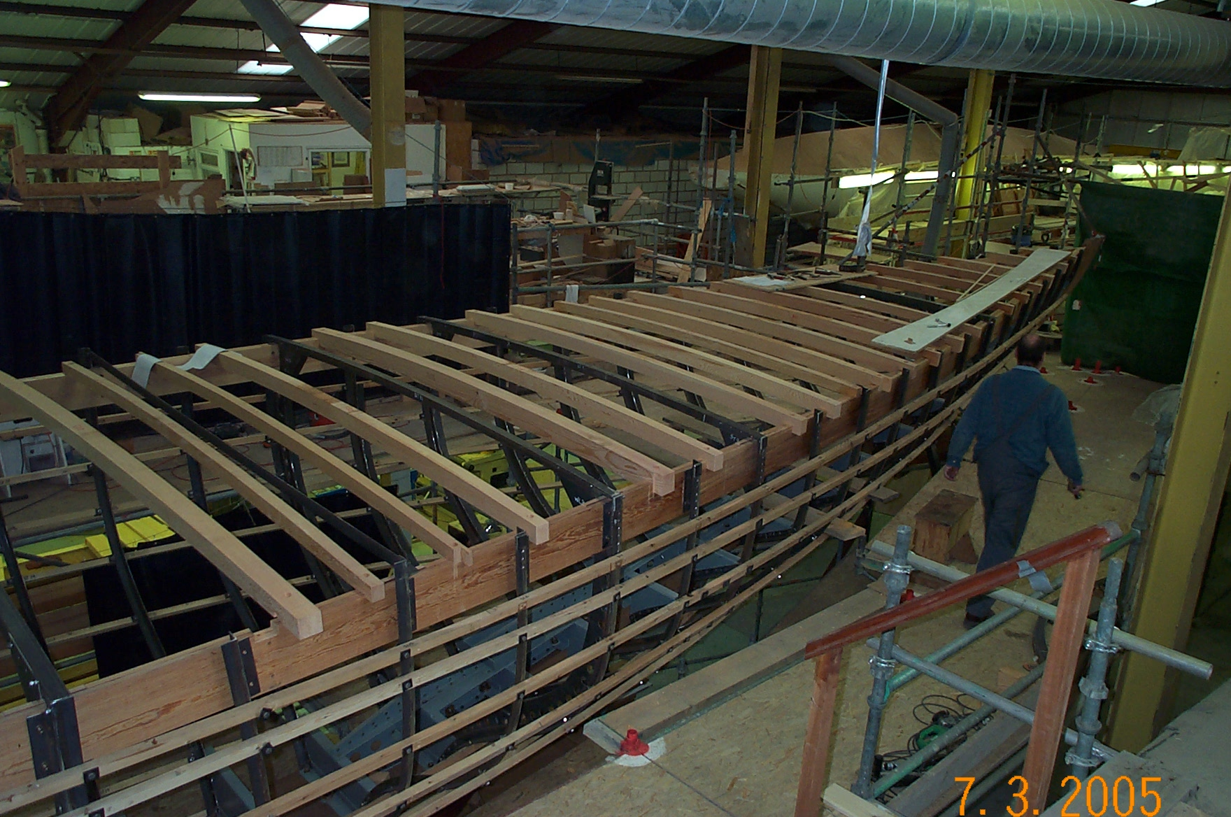 Hispania, designed by William Fife, sister ship to Tuiga, under restoration at Fairlie yachts