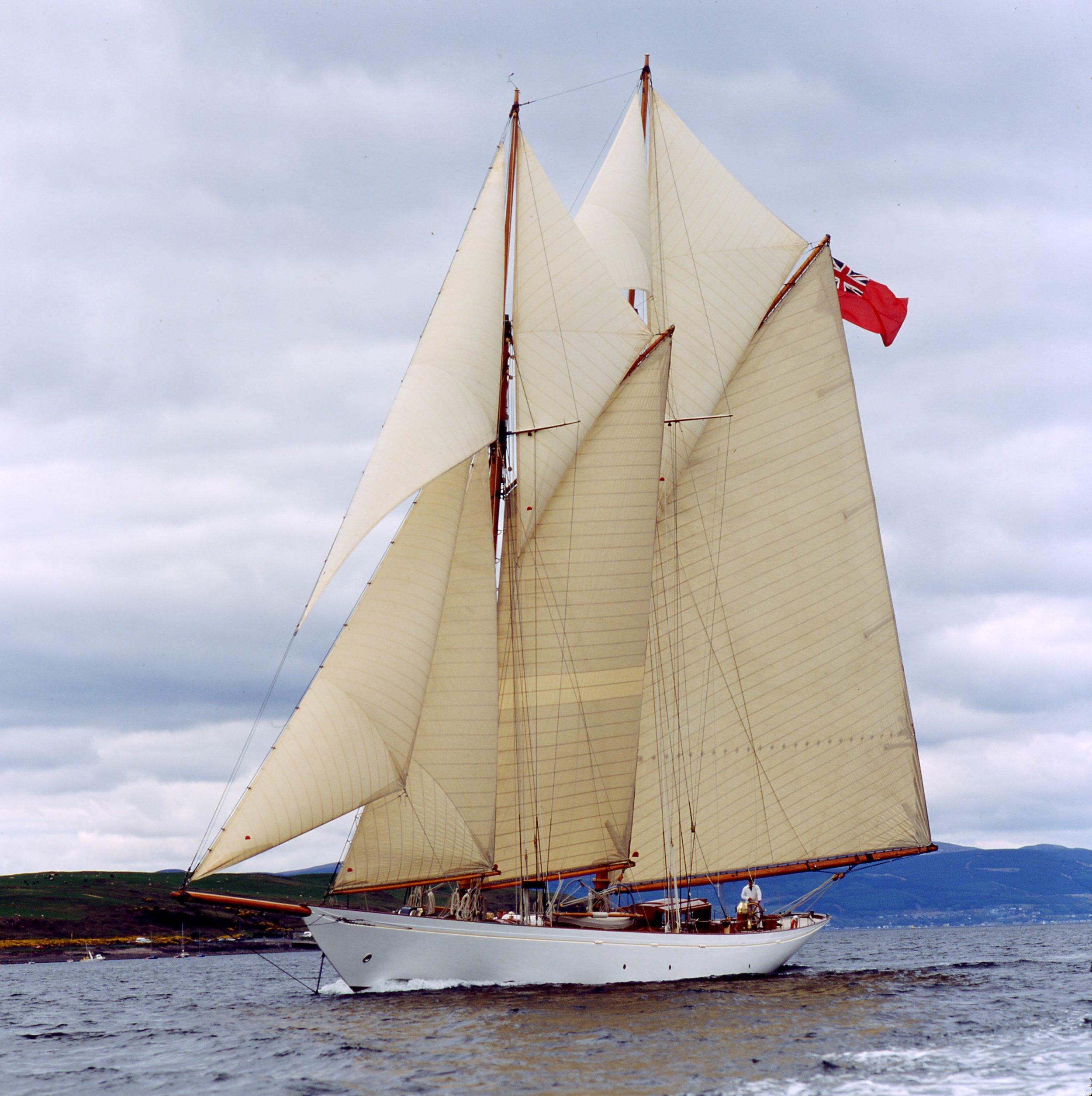 The Fife designed schooner during a visit to Fairlie