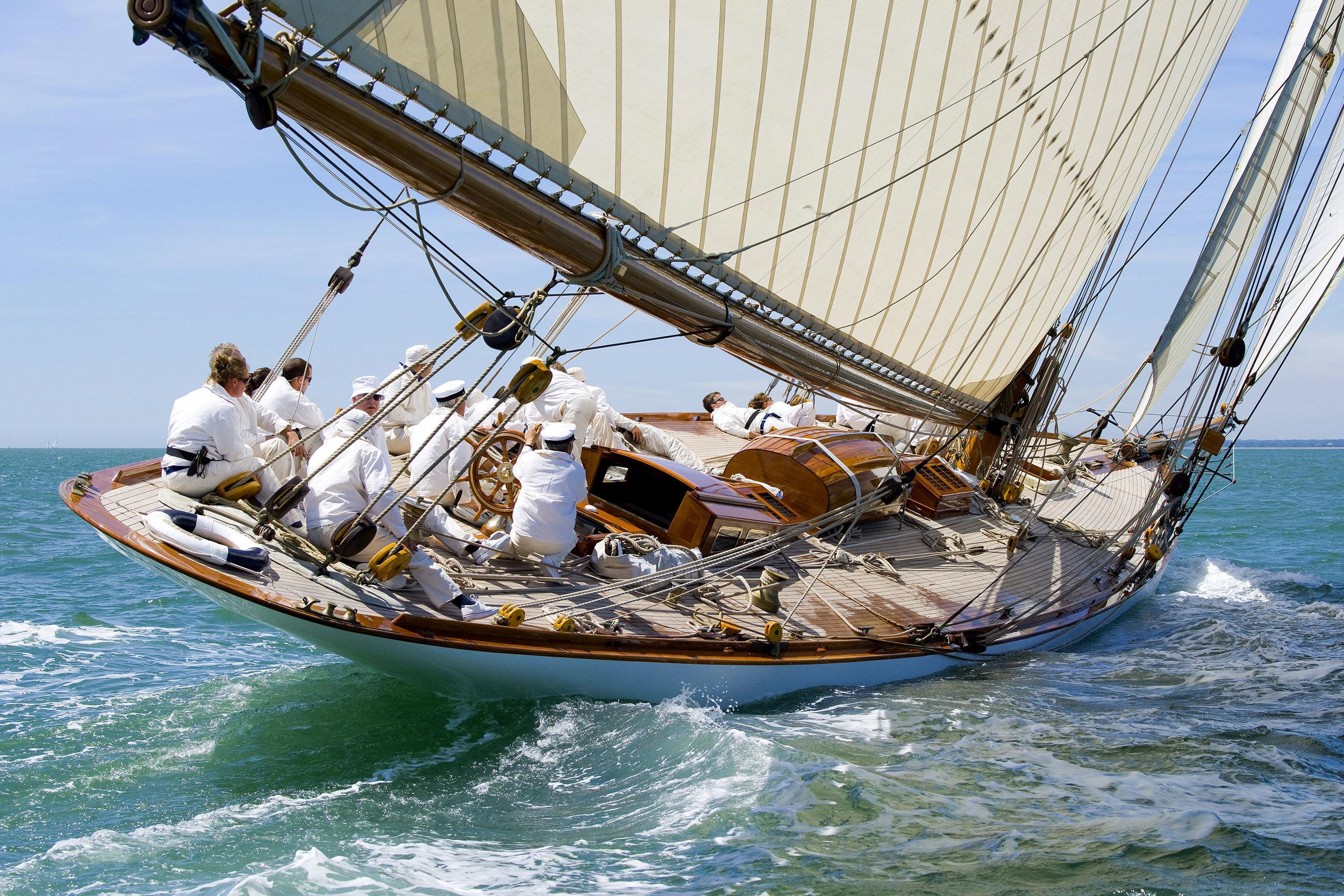 Mariquita sails in a Panerai regatta